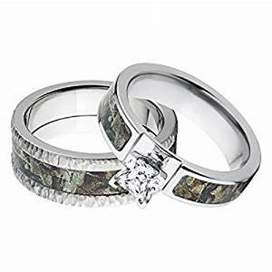 amazoncom his and her39s matching realtree timber With realtree camo wedding rings for her