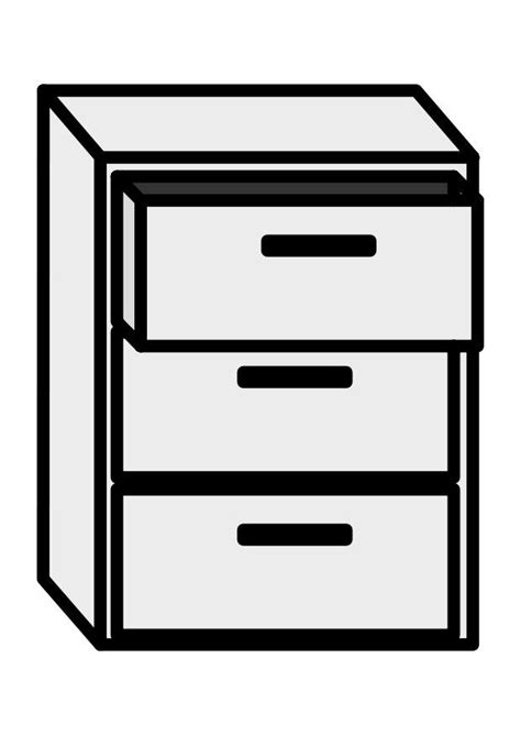 Coloring Page filing cabinet - free printable coloring pages