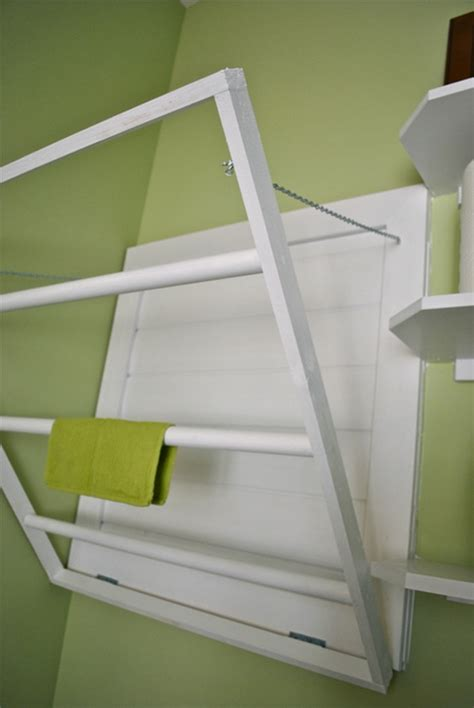 Build A Spacesaving Wall Mounted Drying Rack For Your