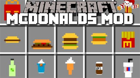 mod鑞es cuisine minecraft mcdonalds mod mcfood and fast food cooking minecraft