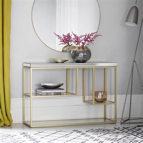 buy gallery direct pippard champagne console table