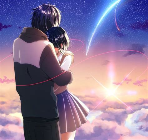 Anime Couple Terpisah Kimi No Nawa 25 Best Ideas About Anime Couples Hugging On Pinterest