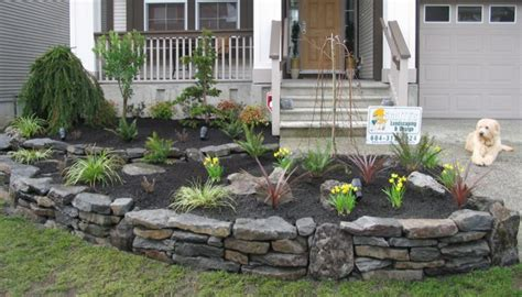 Great Tips Of How To Build Stacked Stone Walls In The Garden Diy Landscaping For Cheap On A Dime Backyard Garden Front Yard Ideas Budget Australia Water Features Websites Hutto Texas