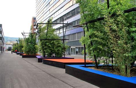 Metall Werk Zürich Ag  Pflanzentröge Mit Sitzgelegenheiten