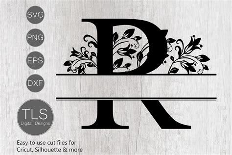 split monogram letter  svg letter  monogram svg