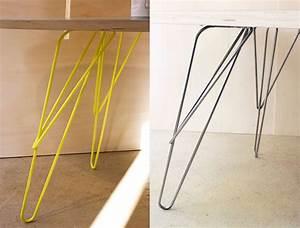Pied De Table En épingle : w pied de table design ~ Dailycaller-alerts.com Idées de Décoration