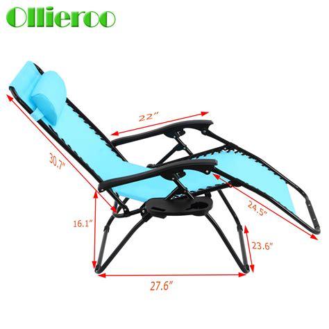 ollieroo new zero gravity folding lounge recliner outdoor