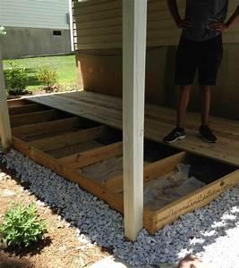 Pictures: Ground Level Deck Frame, - DIY HOME DESIGN