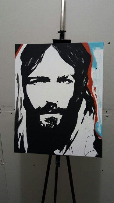 Abstract Black And White Jesus Painting by Inspirational Jesus Painting In Acrylic Inspired By A