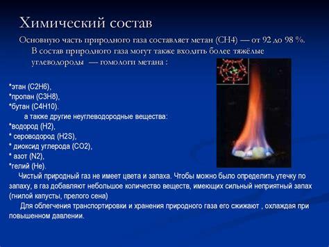 Физикохимические свойства природного газа. Добыча и применение природного газа. Природный газ