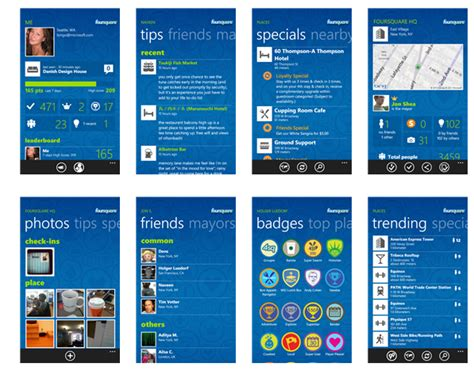 foursquare s new windows phone 8 app is slick clean and