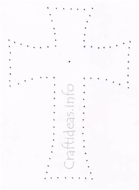 stitched cross template   sympathy card