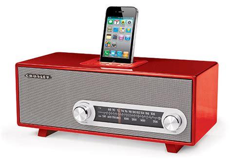 modern radio crosley ranchero retro iphone radio your beats school style technabob