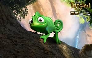 Pascal from Disney's Tangled Movie Desktop Wallpaper