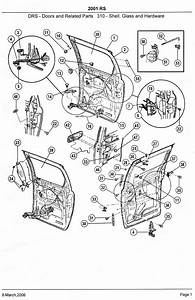 2001 Dodge Caravan Power Sliding Door Parts Diagram