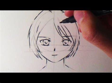 comment dessiner  visage manga fille bonus youtube