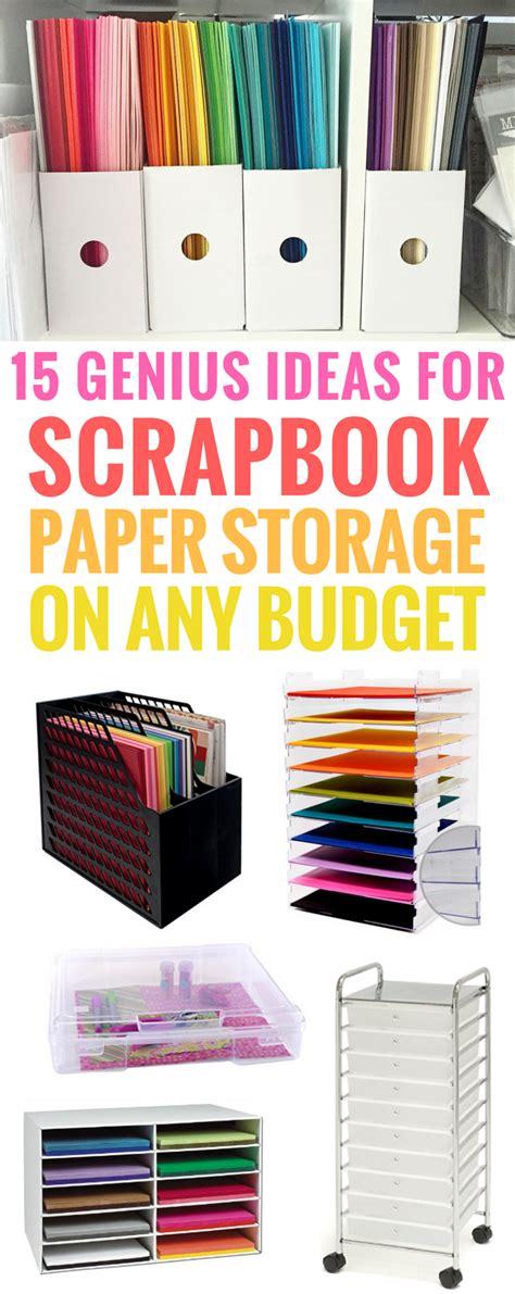 clever ideas  scrapbook paper storage   budget