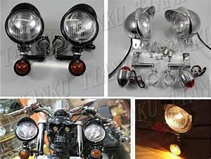 Turn Signal   Spot Light Brackets Fork Mount For Kawasaki Vulcan Classic Vn 400 Vn500 Vn800 Vn