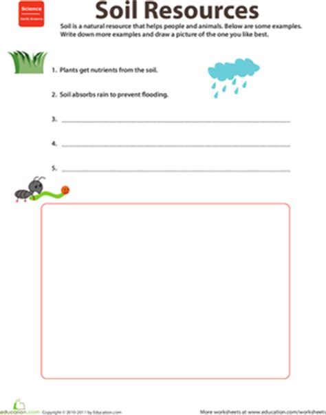 resources soil worksheet education