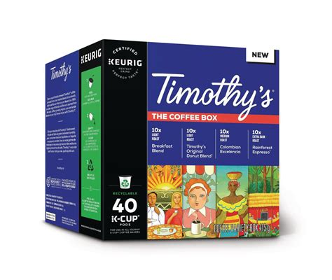 Best buy customers often prefer the following products when searching for coffee pods keurig. Timothy's® The Coffee Box Keurig® Recyclable K-Cup® Pod | Walmart Canada