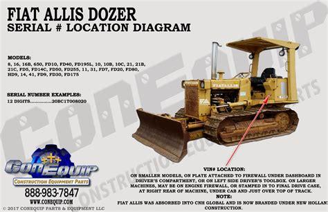 Fiat Allis Parts Dealers by Fiat Allis 545 545h Wheel Loader Service Parts Catalog