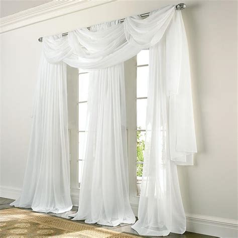 Elegance Voile WHITE Sheer Panels   Altmeyer's BedBathHome