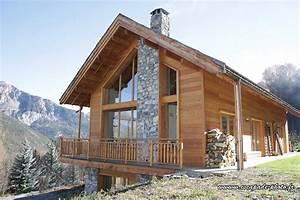 Ossature Bois Maison : constructeur chalet bois maison bois ossature bois ~ Melissatoandfro.com Idées de Décoration