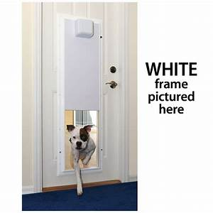 Plexidor large electronic dog door unit up to 125 lbs ebay for Electric dog doors for extra large dogs