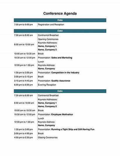 Agenda Conference Templates Event Office Meeting Template