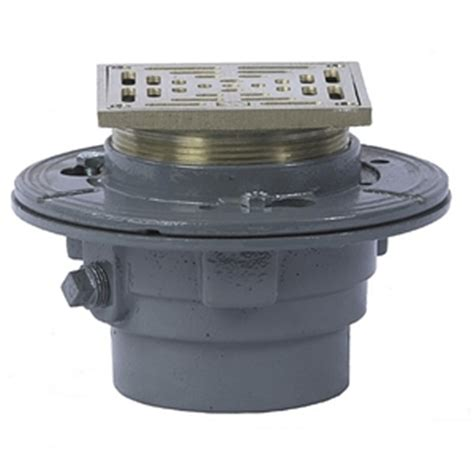 watts floor drain with square heavy duty strainer fd 100 l auction 0010 2500871