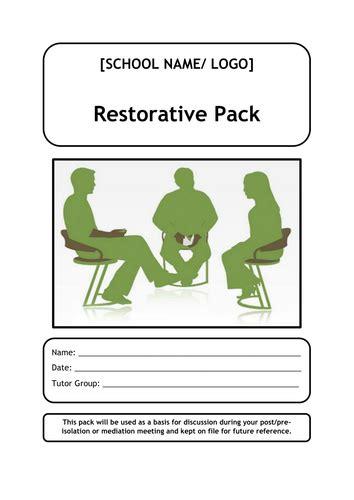 behaviour restorative justice workbook  tamsaine