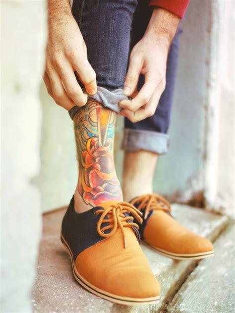 adorable ankle tattoos designs mens craze