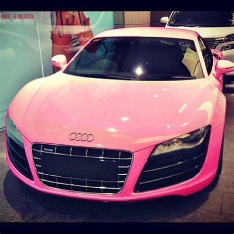 pink audi pretty pink audi r8 car pimp my ride pinterest god