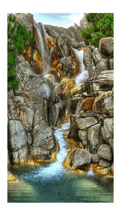 Nature Waterfalls Waterfall Em Gifs Cascata Mobile9