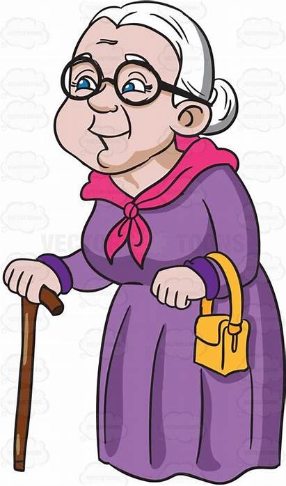 Grandmother Clipart Grandma Cartoon Happy Vector Vectortoons