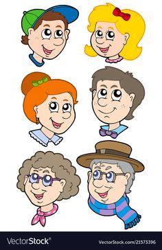 cartoon family flashcards  kids family tree chart