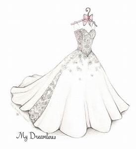 Wedding Dress Sketch Gallery G I R L Y I L L U S T R A
