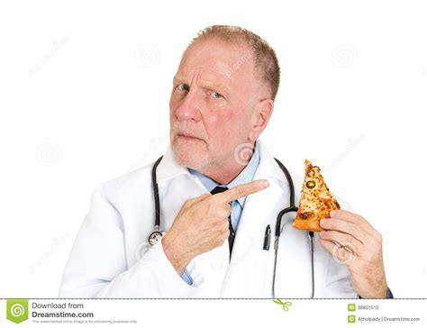 dr cuisine 39 s advice don 39 t eat bad food stock photo image 38851510