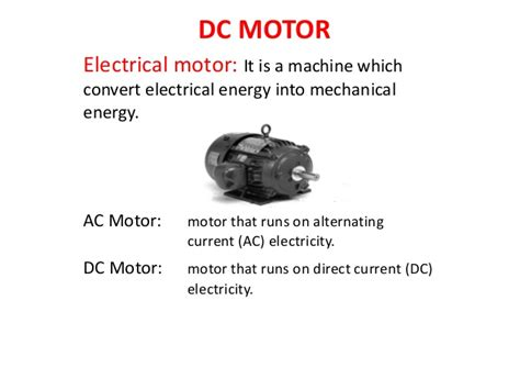 Ac And Dc Motors by Dc Motor