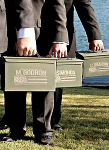 best man gift engraved ammo box personalized with name With wedding gifts from the best man