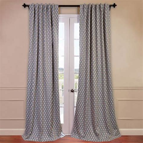 108 Inch Blackout Drapes by Casablanca Aqua And Beige 50 X 108 Inch Blackout Curtain