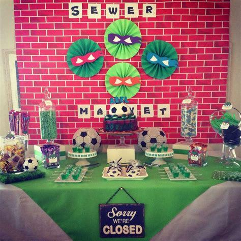 Turtle Decorations Ideas by Mutant Turtles Birthday Ideas Photo