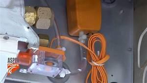 Install Of Mini Orange Pump On Ceiling Unit