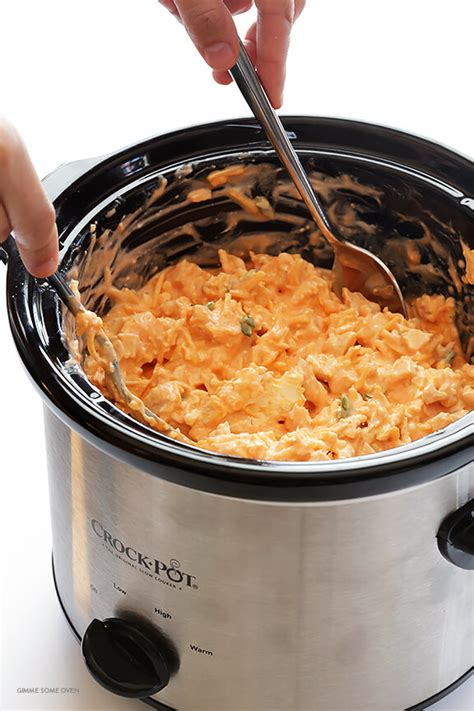 crock pot appetizers slow cooker buffalo chicken dip gimme some oven