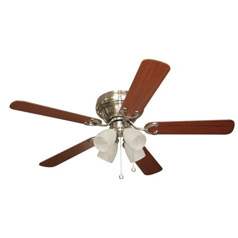52 brushed nickel ceiling fan shop harbor breeze cheshire ii 52 in brushed nickel flush