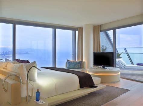chambre barcelone hotel w barcelone chambre et terrasse je vis à barcelone