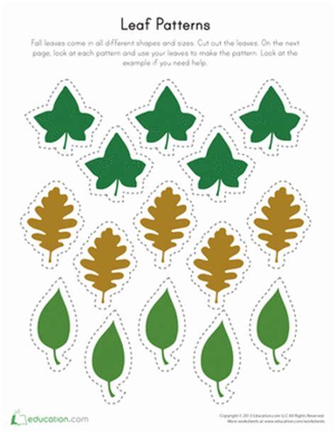 printable leaf patterns pattern worksheet printable