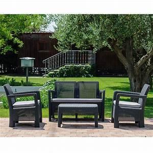 Salon Jardin Resine : salon de jardin r sine st barth canap 2 fauteuils table basse plantes et jardins ~ Teatrodelosmanantiales.com Idées de Décoration