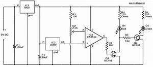Leds Temperature Indicator Circuit
