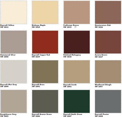 sherwin williams paint colors for concrete sherwin williams roycroft exterior colors same colors